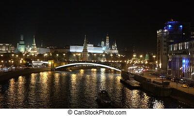 View of the Kremlin at night