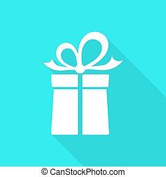 Vector gift box card