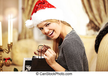 Christmas Presents and Fashion Model