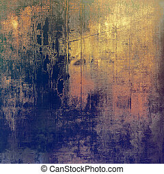 Abstract textured background designed in grunge style. With different color patterns: yellow (beige); brown; gray; blue