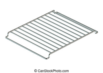 Empty grill rack isolated on white background