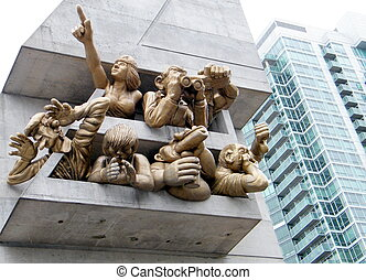 Toronto Audience (2) March 2010 - The Audience sculpture at...