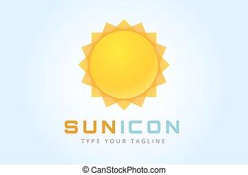 Sun burst star logo icon. Sun star, summer, nature, sky,...