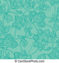 Seamless pattern in pastel green tones