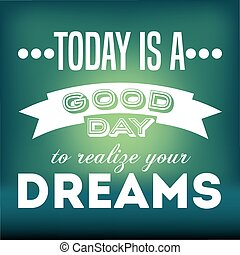 motivational message design, vector illustration eps10...