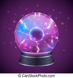 Magic Sphere Illustration - Magic occult fortune teller...