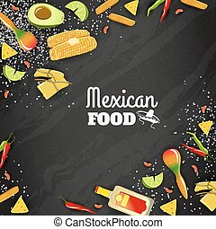 Mexican Food Seamless Background - Mexican national cuisine...