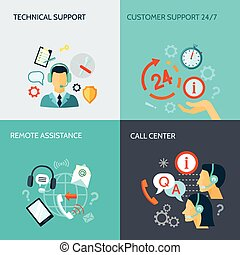 Remote Assistance And Technical Support Banners - Remote...