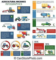 Agricultural Machines Infographic Set - Agricultural...