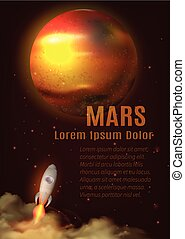 Mars Planet Poster - Mars planet poster with title text...