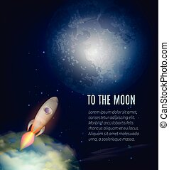 Moon Exploration Poster - Moon exploration poster with Earth...
