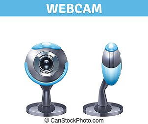 Webcam Realistic Design - Webcam realistic design with front...