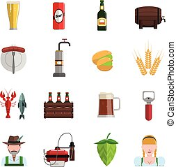 Beer Icons Flat Set