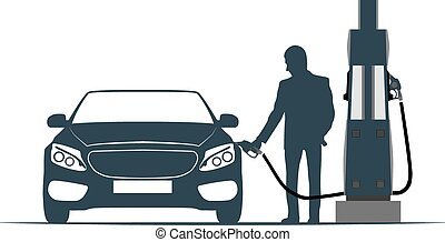 car, fuelling, transport, gas station - The car is recharged...