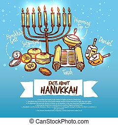 Hanukkah Infographics Set - Hanukkah infographics set with...