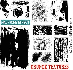 Grunge Halftone Drawing Textures