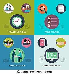 Project Management Set - Project management design concept...