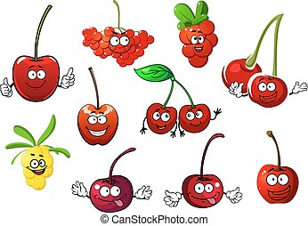 Cherry, rowanberry, cowberry and sea buckthorn - Funny juicy...