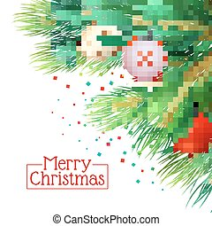 Christmas Tree Branches Background - Christmas tree branches...