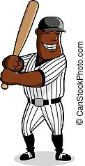Cartoon baseball player character with bat