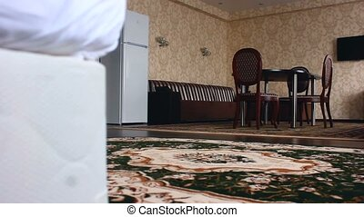 chair room hotel Interior with chairs and carpets beautiful...