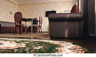 chair room Interior with hotel chairs and carpets beautiful...