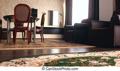chair room Interior with chairs and carpets beautiful hotel...