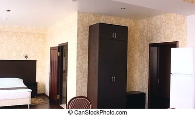 chair motion room Interior bedroom hotel with chairs and...