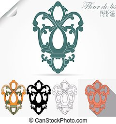 fleur de lis emblem, heraldic symbol