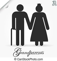 Grandparents vector illustration - Grandparents vector icon....
