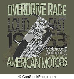 Motorcycle Racing t-shirt - vector - Motorcycle Racing...