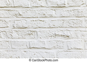 White color brick background and texture - White color...