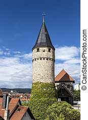 Part of the original drawbridge tower that lead to the...