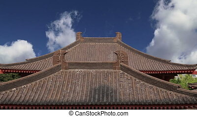 Roof decorations,Xian (Sian, Xi'an) - Roof decorations on...