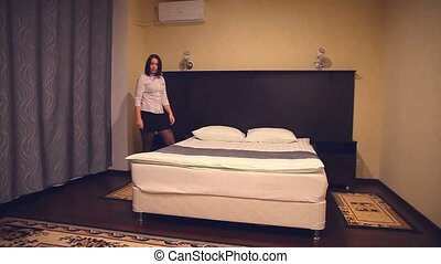 housekeeping hotel maid, woman, people working girl in the...