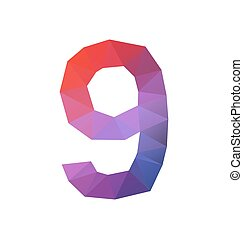 colorful polygonal number for various use