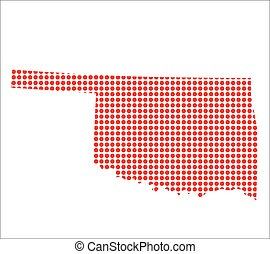 Red Dot Map of Oklahoma