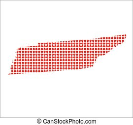 Red Dot Map of Tennessee