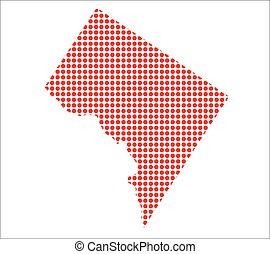 Red Dot Map of Washington DC