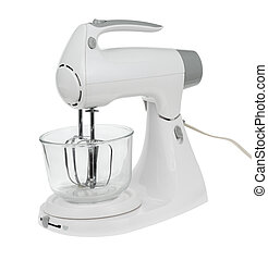 Mixer - Electric mixer and bowl isolated on white