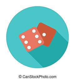 Craps icon - Craps icon. Flat vector related icon whit long...