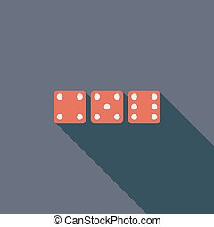 Craps icon - Craps icon. Flat vector related icon with long...