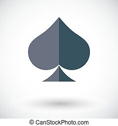 Card suit - Spades icon. Flat vector related icon for web...