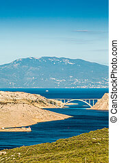 Bridge leading to Krk island, Croatia, Europe