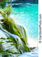 Plitvice lakes - Beautiful waterfalls in Plitvice Lakes...