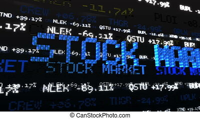 Stock Market Tickers Loopable - Stock Market Tickers at...