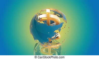 Dollar as axis of the world Loop a - Dollar symbol as axis...