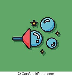 Blowing bubbles icon
