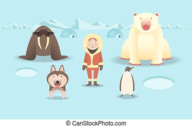 North Pole - character of North Pole lifes