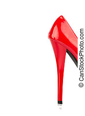 red high heels single shoe - red high heels, symbol photo...